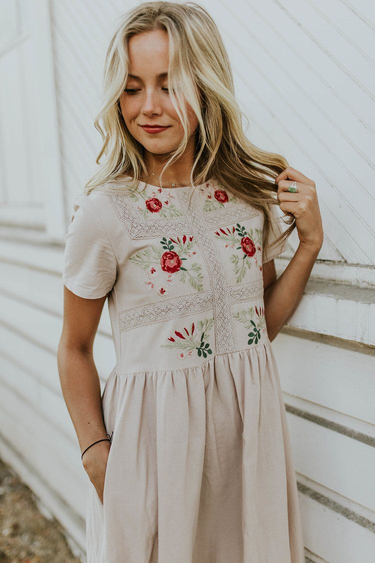 Madaline Jean Embroidered Dress *RESTOCKED*