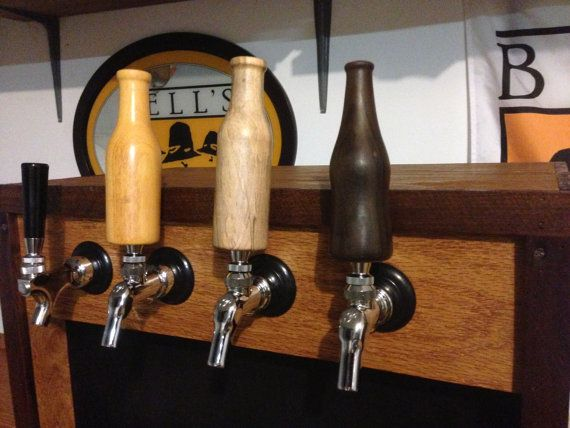 Beer Bottle Shaped Wooden Tap Handles By Creechwoodturning