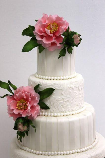 Torturi Vioricas Cakes Tort Nunta Cu Bujori Roz