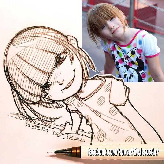 Retratos a lápis