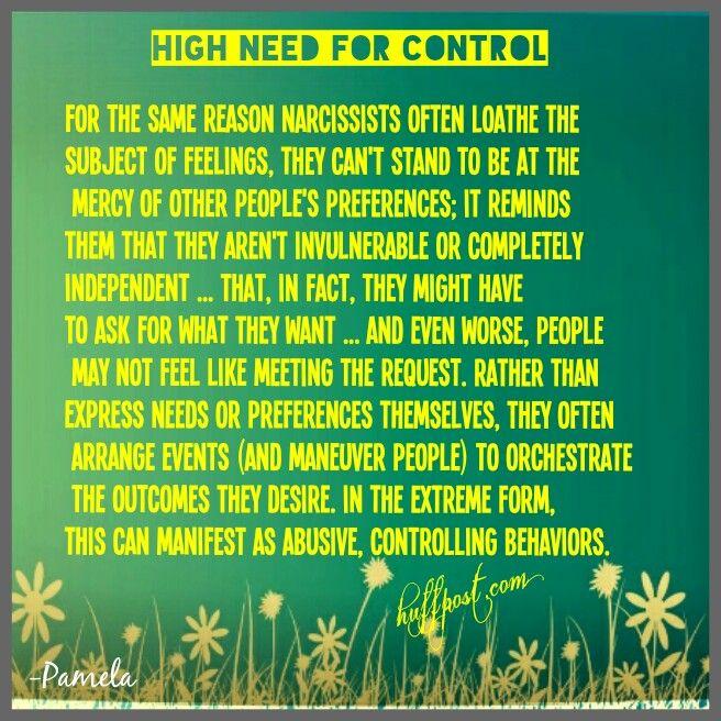 Narcissist control