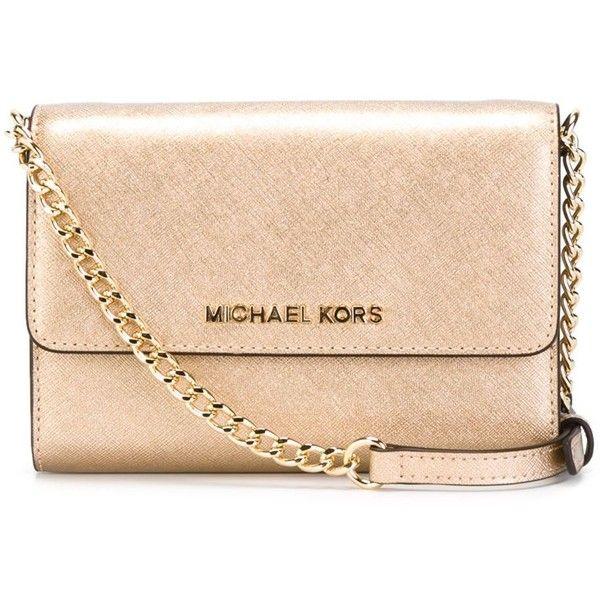 e5842f0789442 Michael Michael Kors Jet Set Travel Phone Crossbody Bag ( 162) ❤ liked on Polyvore  featuring bags