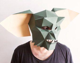 Zombie Alien Mask Instant Pdf Download Diy Alien Printab