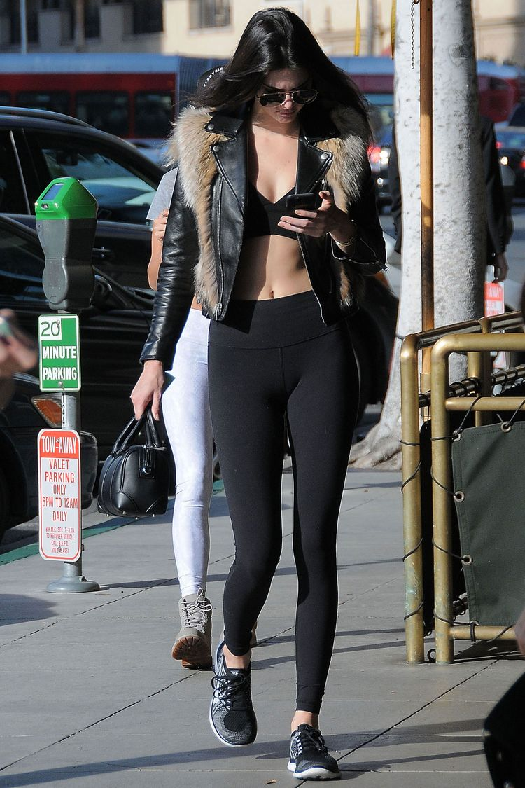 6a083c1bb6c87 15 Times Kendall Jenner and Gigi Hadid Looked Flawless in Gym Clothes