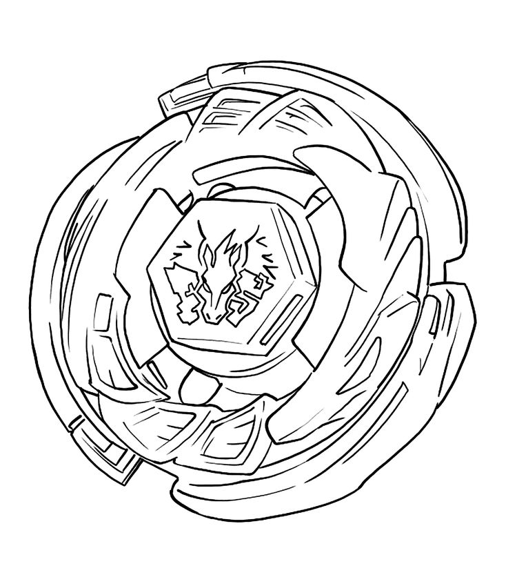 Pegasus Beyblade anime coloring pages for kids, printable