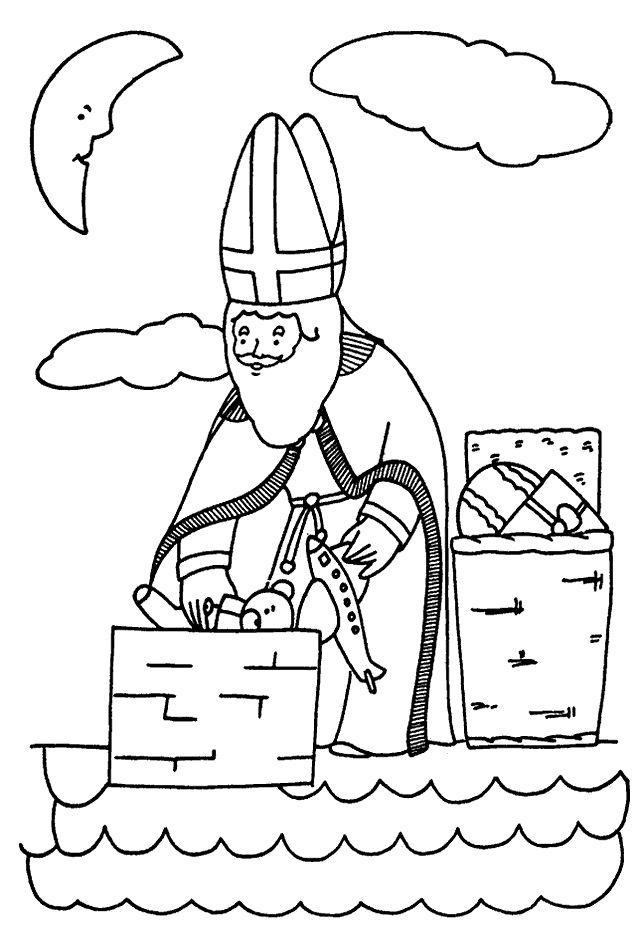 Bischof Nikolaus Ausmalbilder Malvorlagen Für Kinder