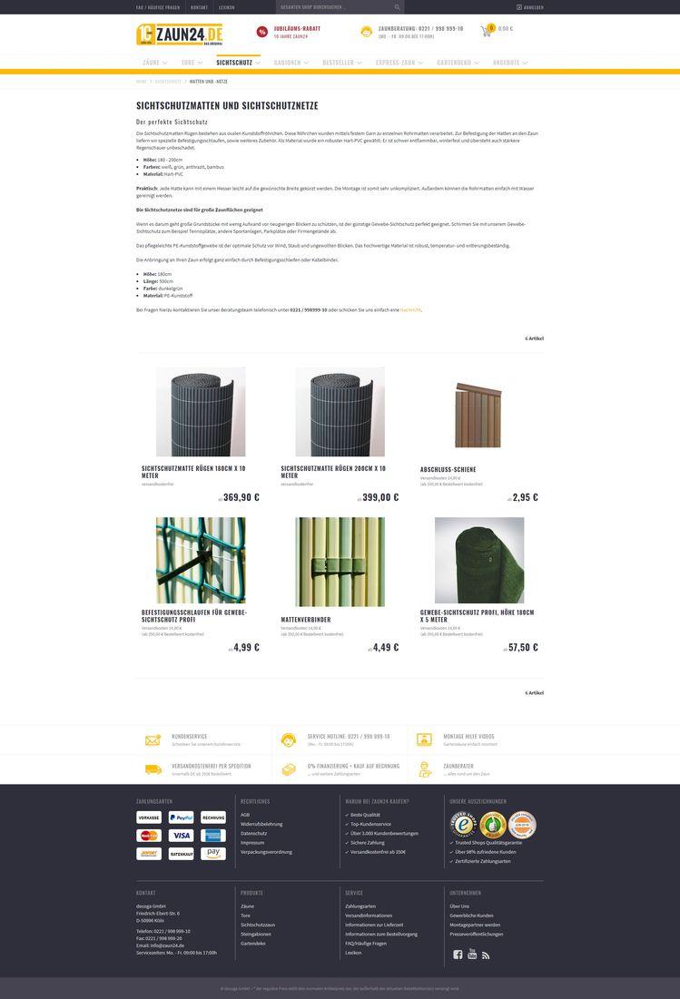 c6e52356ec9010 Sichtschutzmatten   -netze online kaufen bei ZAUN24. Schauen Sie doch mal  rein! -