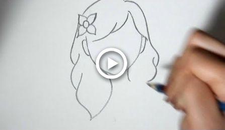 Como desenhar penteados bonitos para iniciantes (parte 3)