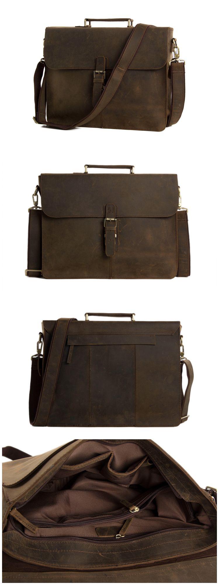 Handmade Vintage Leather Briefcase Messenger Bag  Men s Handbag 7106 from  Unihandmade Leather Studio 4b32e1a6f0