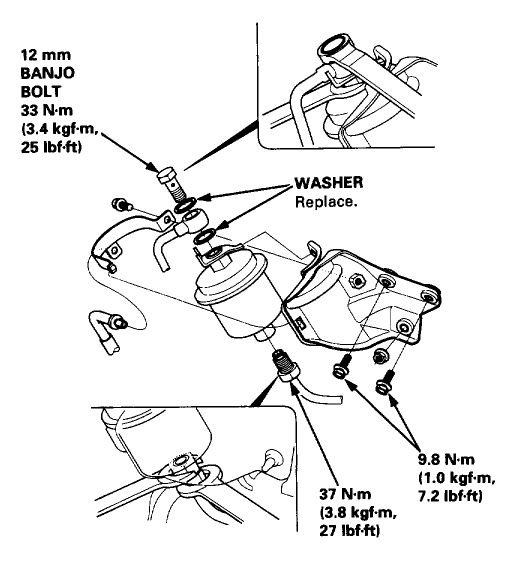 2007 Honda Civic Fuel Filter Diagram