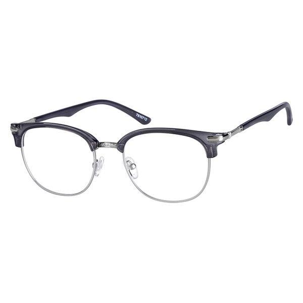8233b29e16 Gray Browline Glasses  7810712