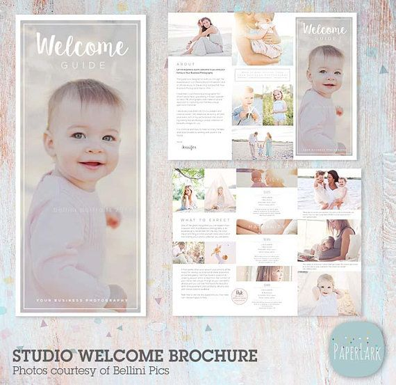 studio welcome flyer trifold brochure dl size sell sheet