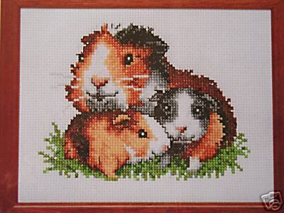 Cross Stitch Pattern Guinea Pig Family