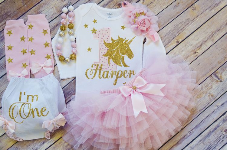 be1b2b5d5 First birthday outfit girl,Unicorn Birthday Outfit pink/gold ,unicorn  birthday dress,