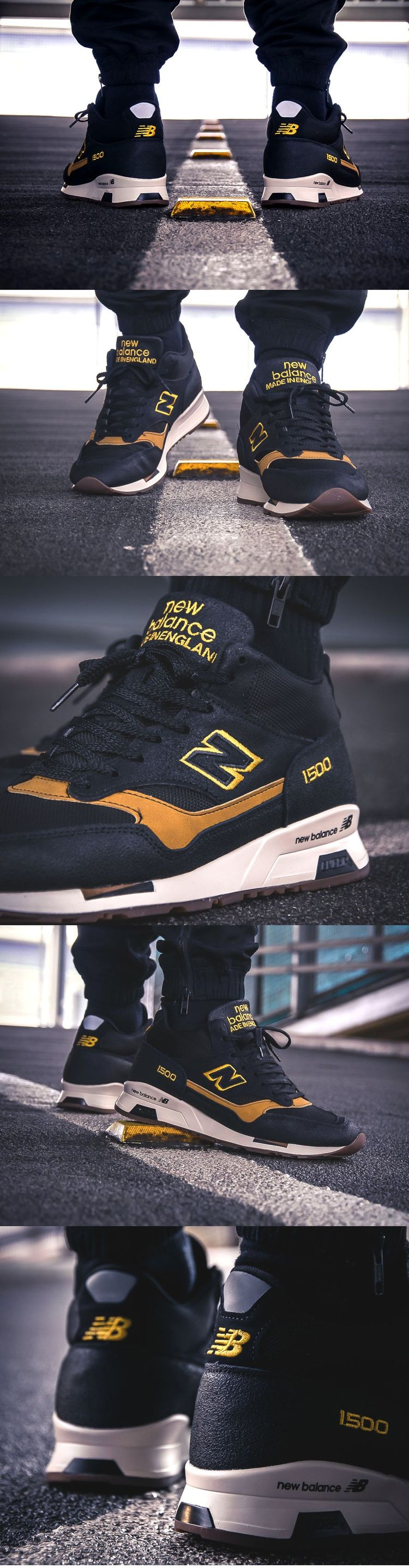 07991ac4e6690  New  Balance MH 1500 KT  Black Yellow  (made in England)