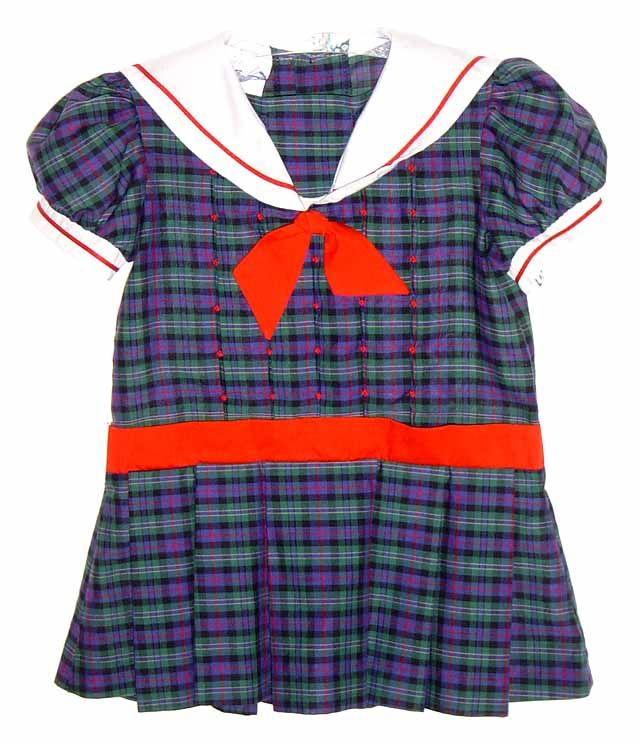 6740bb9532ab Polly Flinders Navy Plaid Sailor Dress with Inverted Pleats and Dropped  Waist $45.00 #PollyFlindersDress