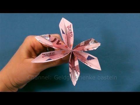 Geldgeschenk Idee Hochzeit Rose Aus Geld Basteln Youtub