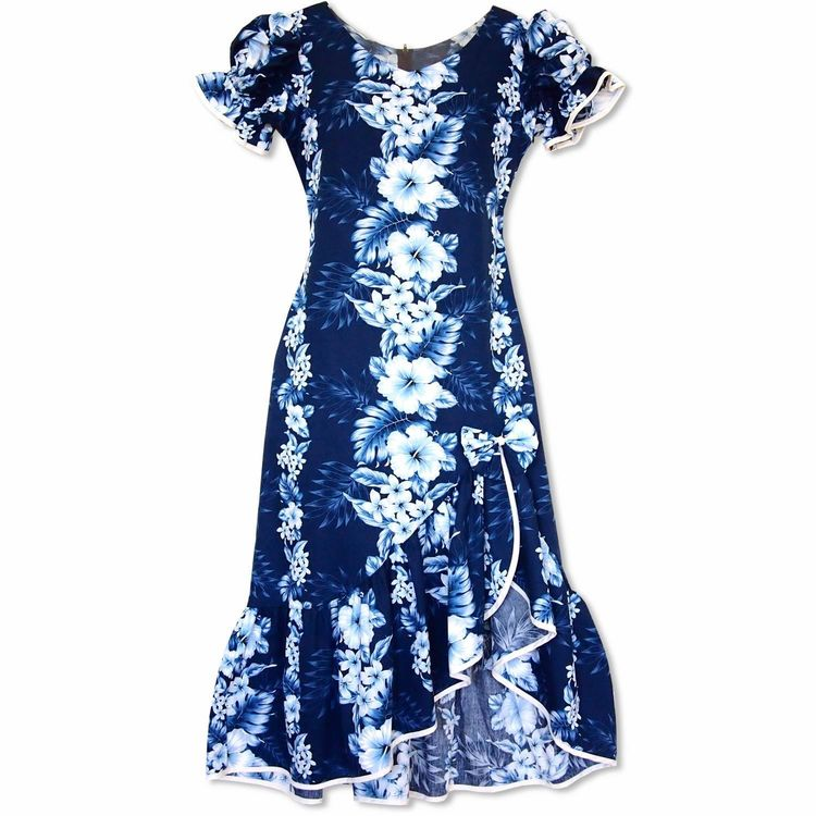 b63b3b8f93a Hanalei Blue Makani Hawaiian Muumuu Dress  floraldress  hawaiiandress