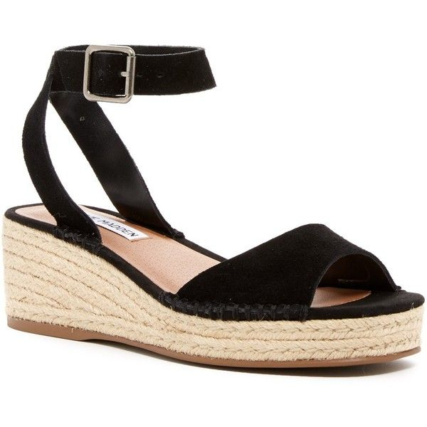 c0f2a8f2d5ce Steve Madden Elody Wedge Platform Sandal (67 CAD) ❤ liked on Polyvore  featuring shoes