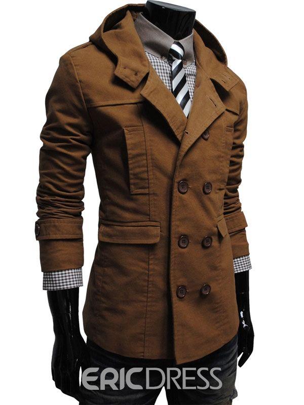 c8d8bddb99 Ericdress Plain Plus Size Vogue Men's Over Coat 11420405 - Ericdress.com