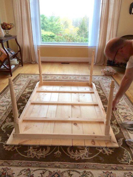 Building A Farmhouse Style Kitchen Table Diy Kitchen Des