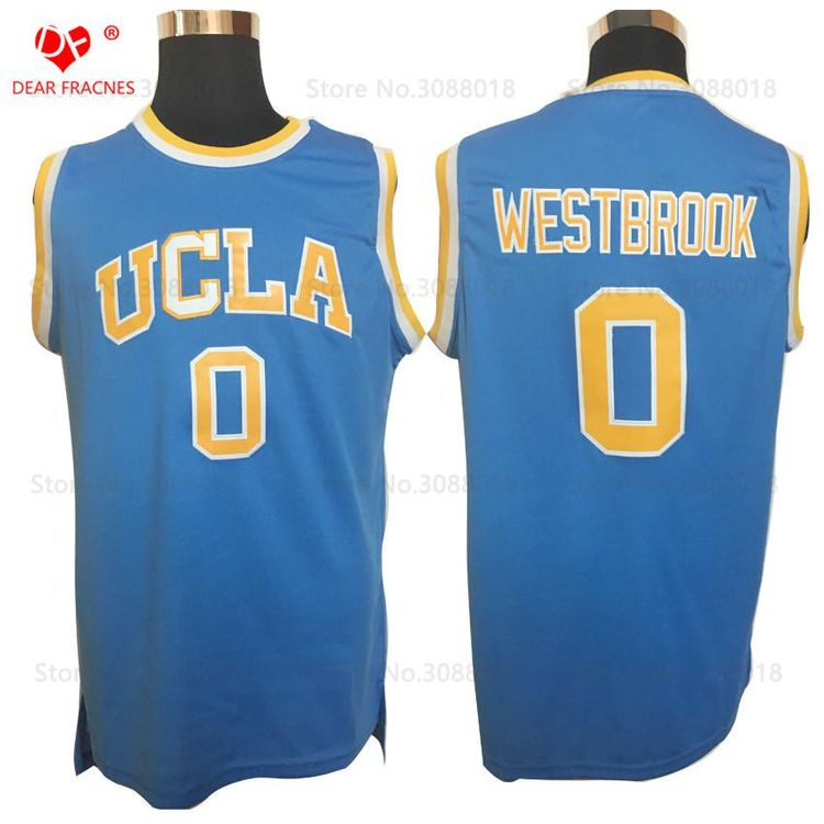 446436908f9 wholesale top movie 0 russell westbrook jersey throwback basketball jersey  vintage ucla bruins college basket shirt