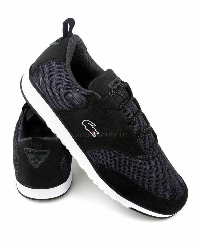 91c0b1ce7 Zapatillas LACOSTE ® Light ✶ Negra   Gris