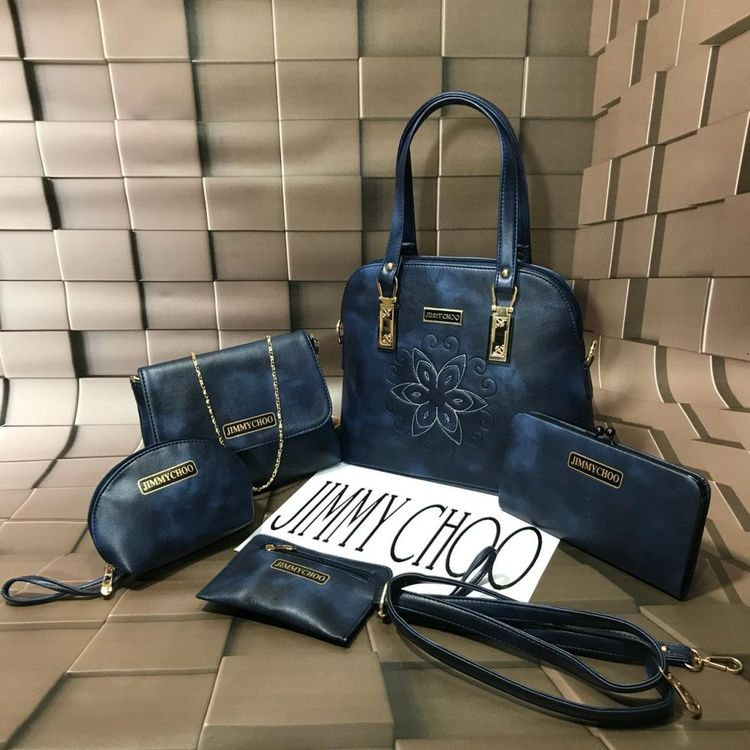 24144b37b6b553 JIMMY CHOO 5 Piece Bucket Bag ComBo