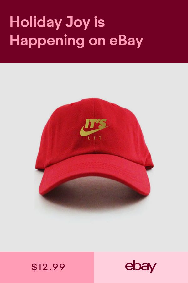 f2b4459a31d4f Its Lit Swoosh Custom Unstructured Dad Hat Adjustable Cap New-Red w Gold