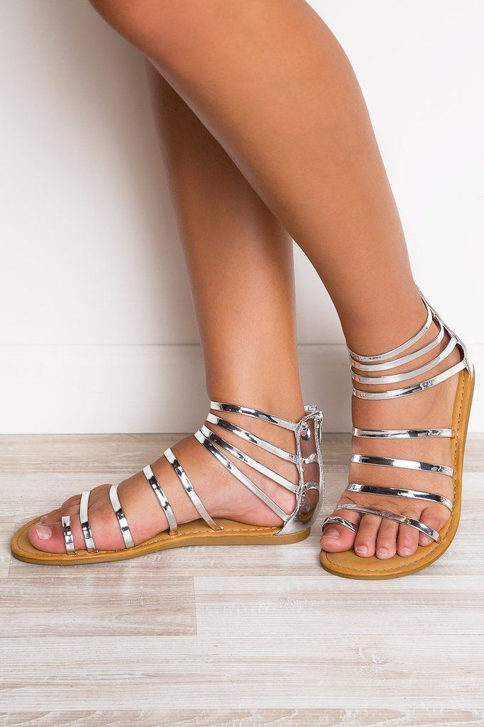 bf4b974647e Secret Hideaway Sandals - Silver