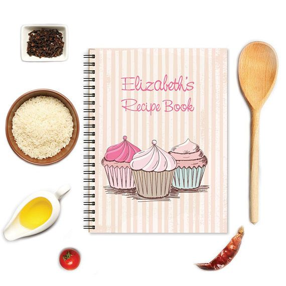 personalized notebook personalized recipe book bridal shower