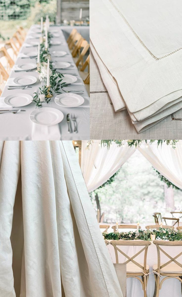 White Vintage Irish Linen Tablecloth with Bordered Hemstitch Edge Traditional Wedding Linens Shabby