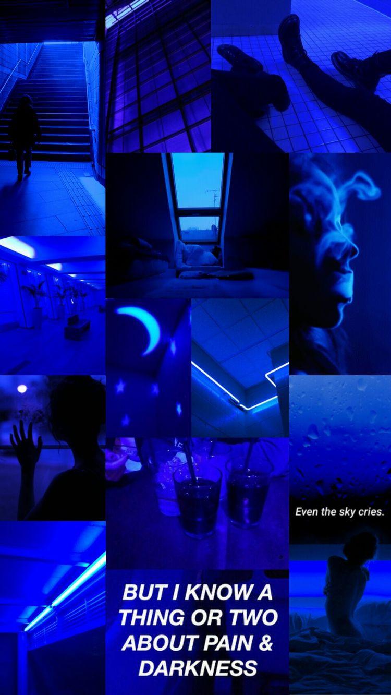 Blue aesthetic lockscreen /wallpaper ^^
