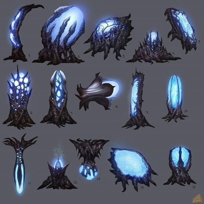 Sommige planten houden de Lumino zichtbaar bij zich. De stijl van deze planten is wel wat te creepy