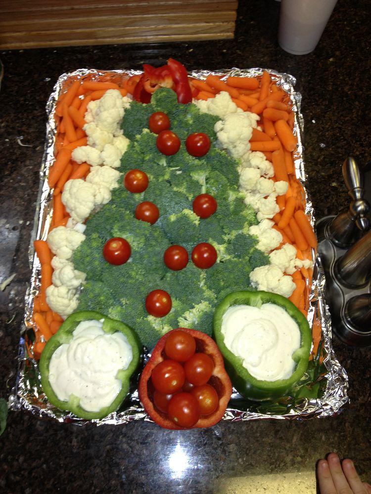 vegetable tray in shape of christmas tree christmas tree veggie tray food