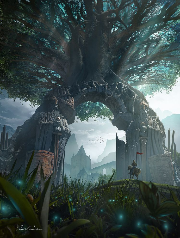 Gate of life by Panjoool Don't know where to go try to find the best place for my art.