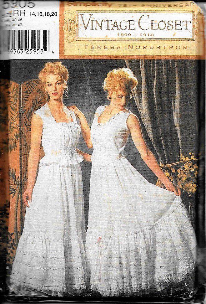 85c13320af Simplicity 5905 Vintage Closet 1900-1910 Teresa Nordstrom Sewing Pattern