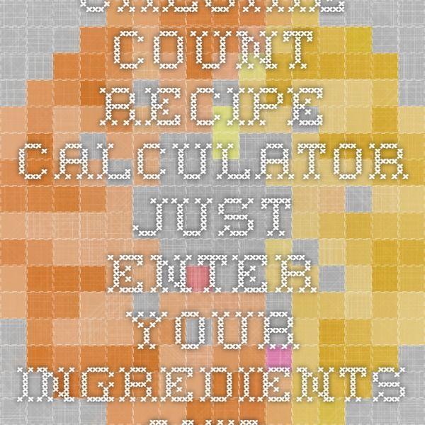recipe calorie calculator