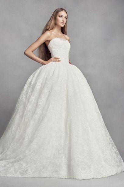 97066ecb1cda White by Vera Wang Corded Lace Wedding Dress VW351372