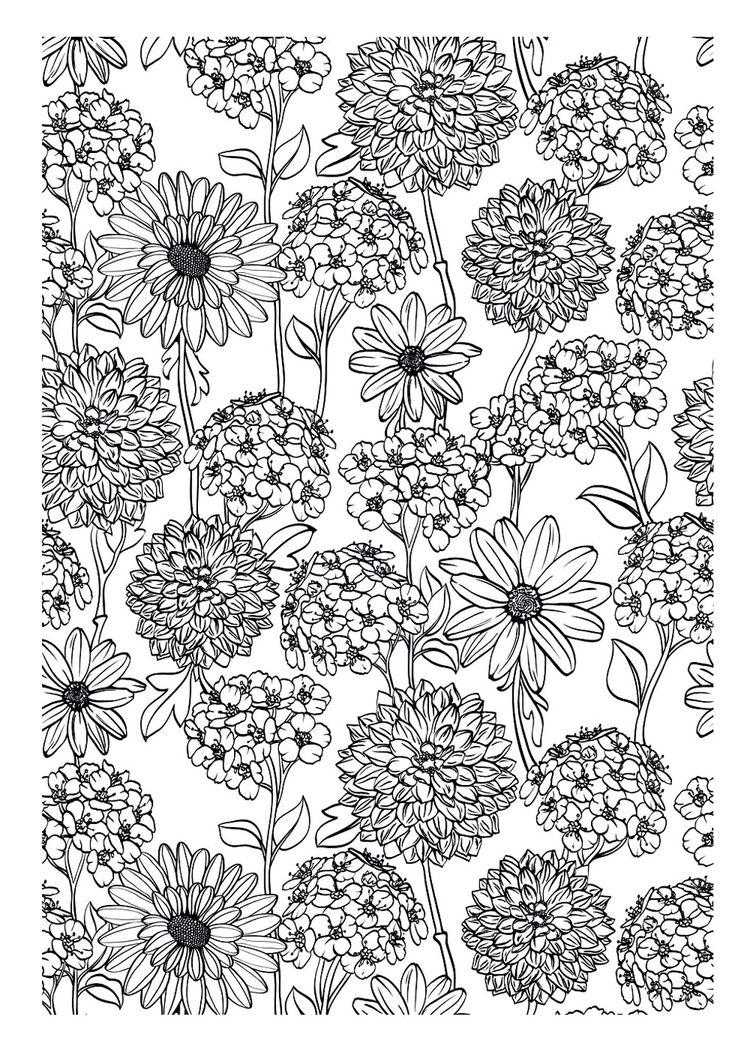 Pour Imprimer Ce Coloriage Gratuit Coloriage Adulte Fleur