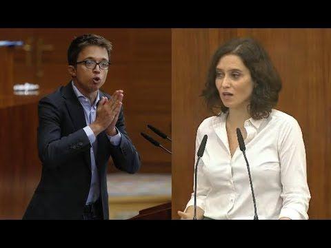 Debate COMPLETO Díaz Ayuso vs Íñigo Errejón Pleno investidura Presidenta de Madrid