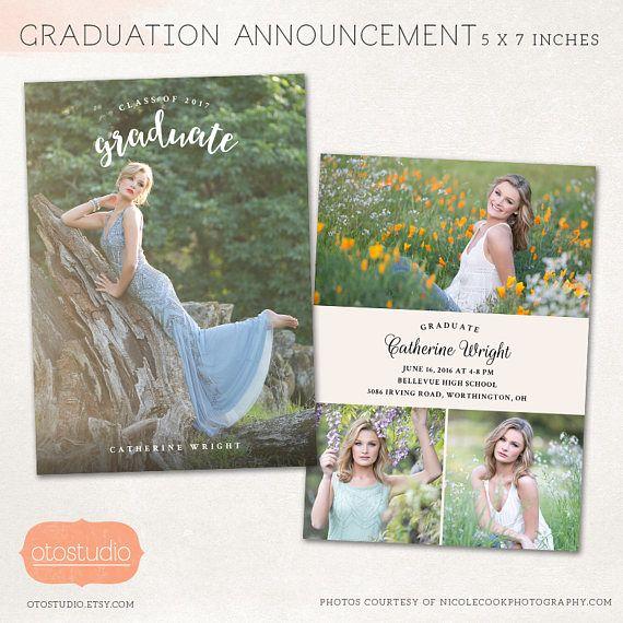 graduation announcement template graduation card template class of 2018 senior grad card 5x7 flat card psd cg063