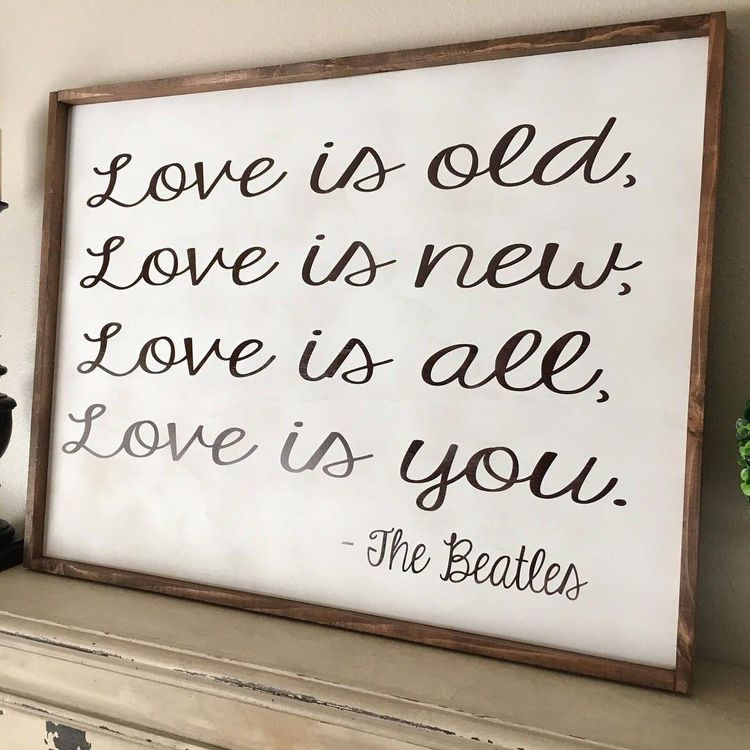 The Beatles All Ytou Need Is Love Bedroom Sign Farmhouse De