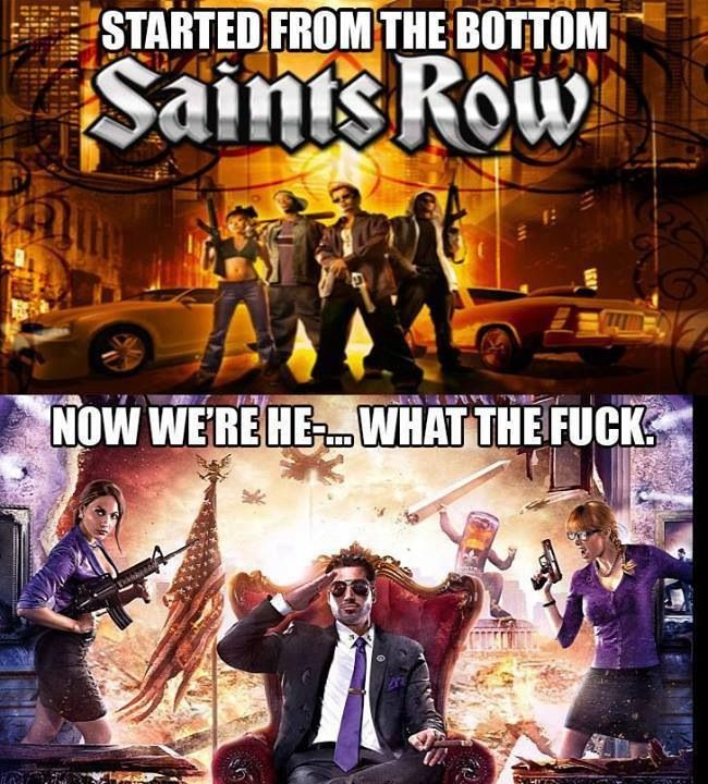 My first thought when I played saints row 4