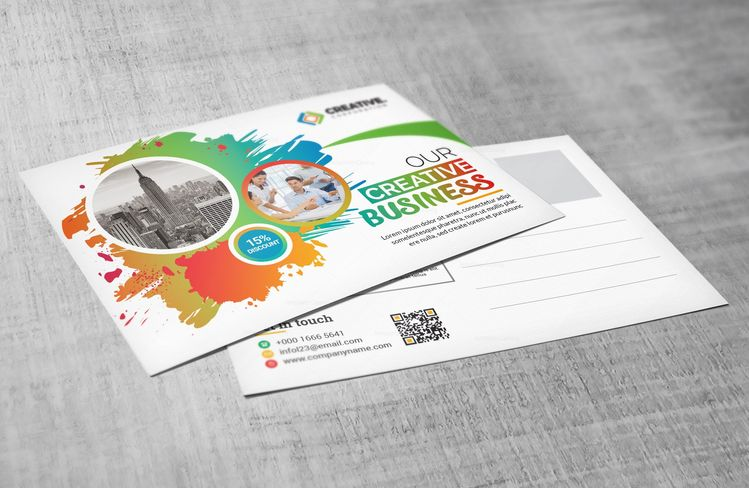 Creative Postcard Design Template - Graphic Templates