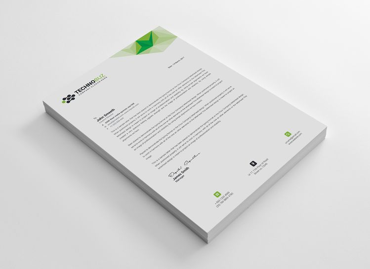 Echo Professional Corporate Letterhead Template - Graphic Templates