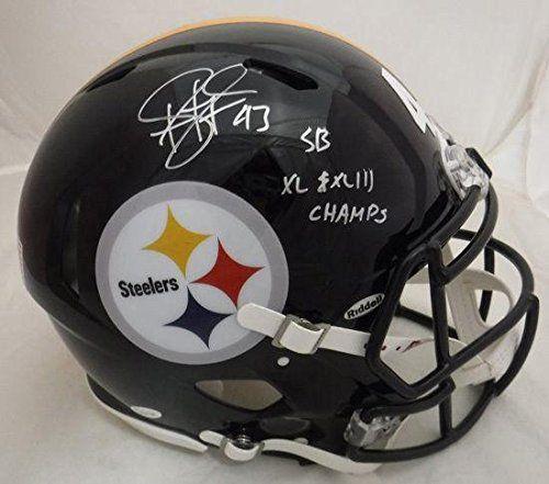 big sale f591a e4db0 Troy Polamalu Signed Pittsburgh Steelers Revolution Pro Hel
