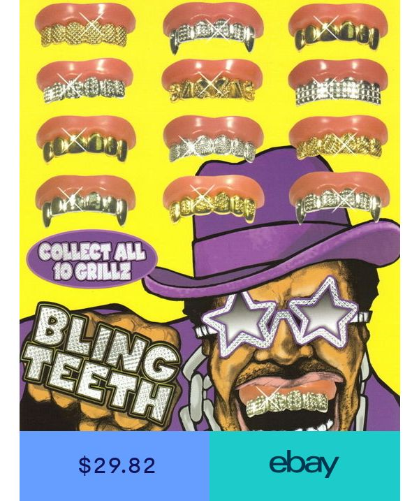 20 Bling Grill Grillz Fake Teeth Bulk Wholesale Birthday Pa