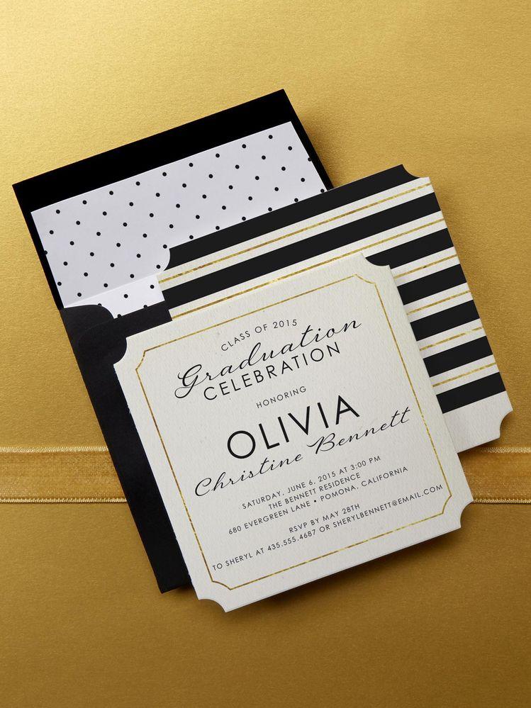 choose a linen graduation invitation design at tiny prints