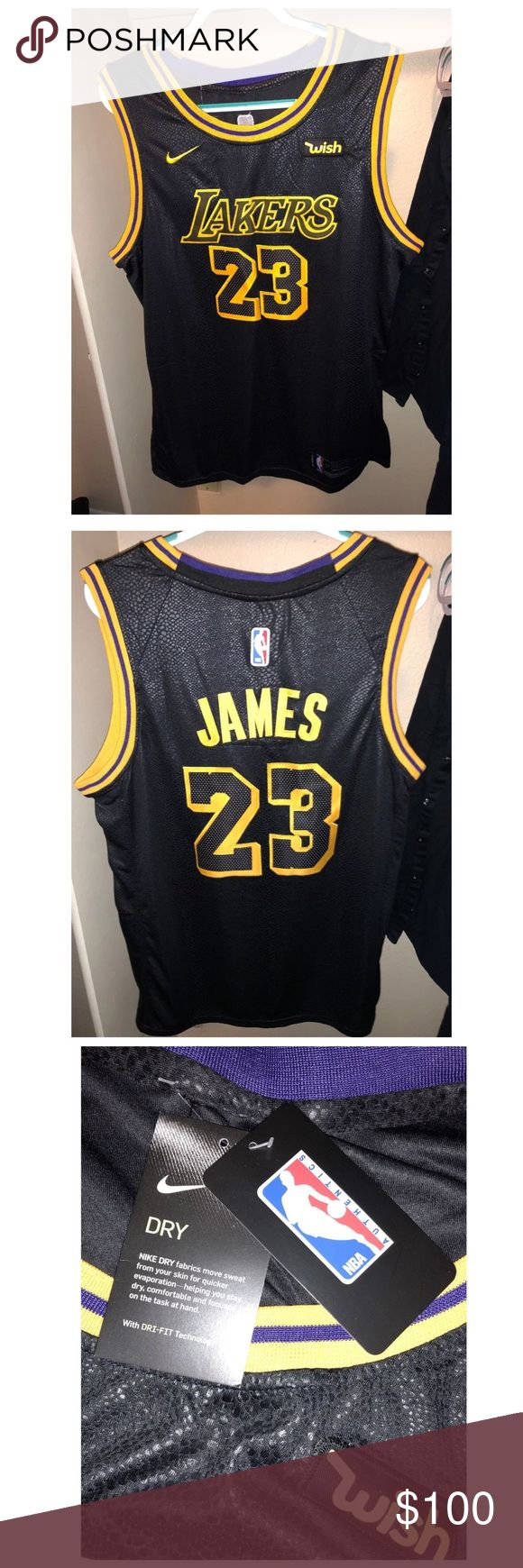 2cf6afbeeed0 NWT Lebron James Lakers Jersey Size LARGE SALE SALE SA